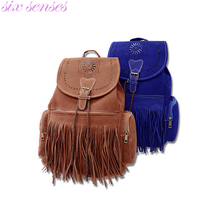 Six senses New arrival Women bag Tassel backpack Casual Backpack School Bag Bolsa retro Fringe Satchel travel XD3597