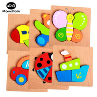 Wood 3D Puzzle Cartoon Jigsaw Board Kit Kids Wooden Montessori Math Educational Toys For Children Tangram Teaching Aids Toy