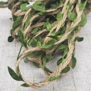 Image 3 - 5 м/лот натуральная пеньковая лента, рулон зеленых листьев, винтажные Свадебные украшения в деревенском стиле, коробка/цветы, веревка для свадьбы, вечеринки