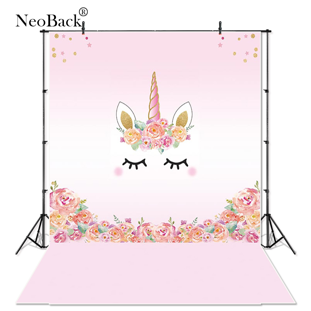 NeoBack Thin vinyl unicorn New Born Photography Backdrop children kids backdrops Printing Studio Photo backgrounds A3660