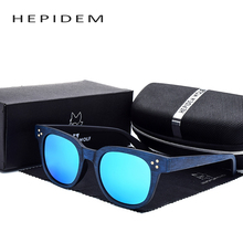 HEPIDEM Women's Fashion G Luxury Round Sun Glasses Vintage Women Brand Designer Cat Eye Wood Retro Rays Sunglasses with box b cl