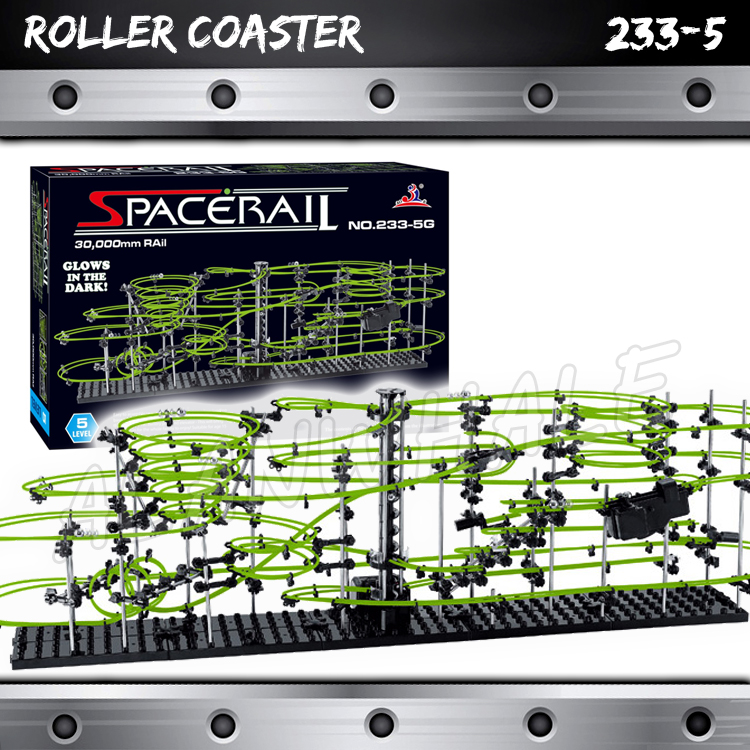 3000cm Rail Level 5 Marble Run Night Luminous Glow In The Dark Roller Coaster Model Building Gifts Maze Rolling ball Sculpture 3000cm rail level 5 marble run night luminous glow in the dark roller coaster model building gifts maze rolling ball sculpture