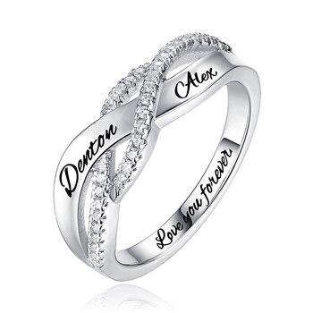 e6a4effe1533 AILIN personalizada ronda Birthstone anillo trenzado para el cumpleaños de  la madre regalo tamaño 6-12 para las mujeres