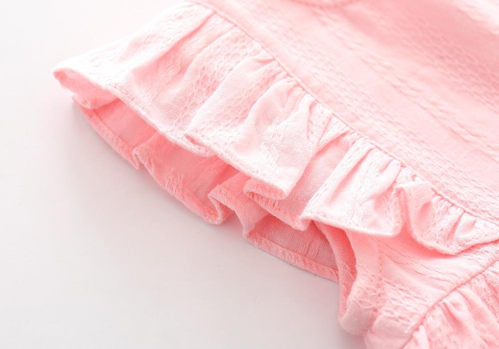 Ruffles BowKnot Zomer Katoen Mini Meisjes Feestjurk Verjaardag - Babykleding - Foto 5