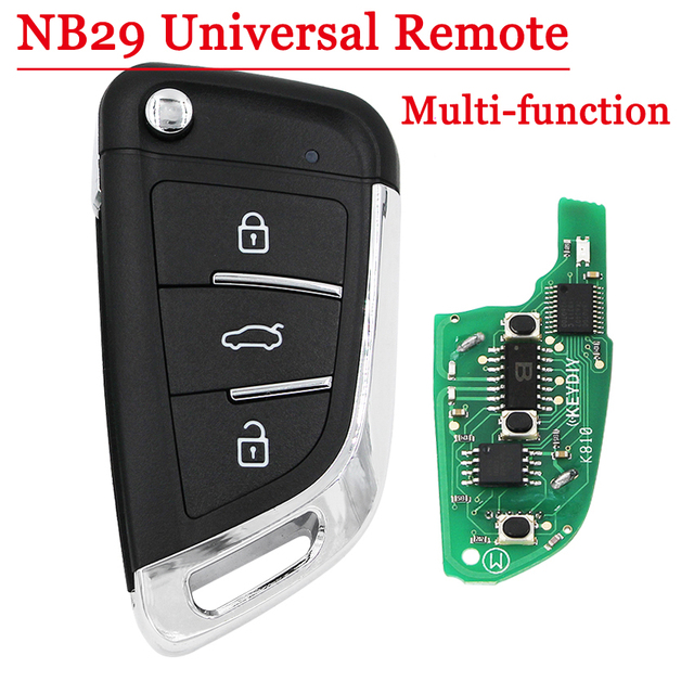 Бесплатная доставка (1 шт.) мульти-функциональный KEYDIY NB29 3 кнопки дистанционного ключа для KD900 KD900 + URG200 KD-X2 5 функций в одним нажатием кнопки