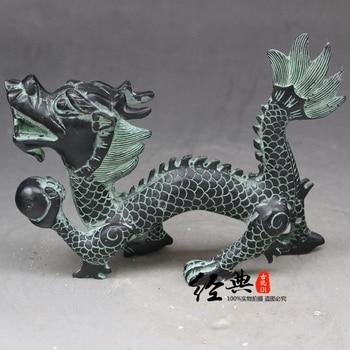 Chinese old bronze ornaments dragon dragon single Nazhu Statue