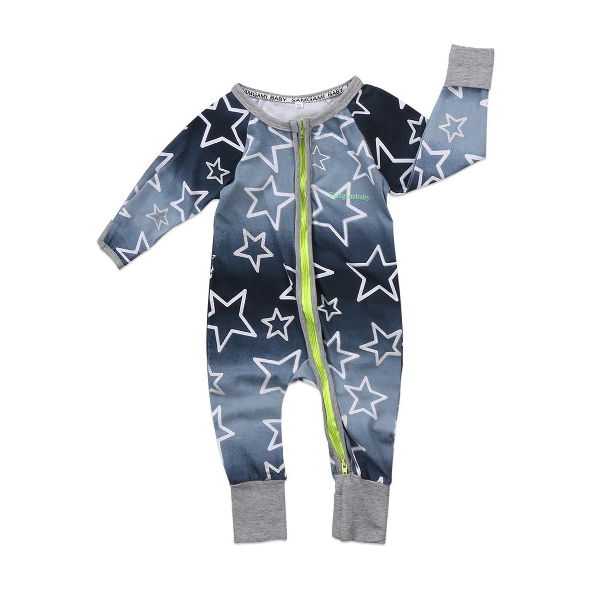 Newborn Infant Baby Boy Girl Floral Zip Up Baby Sleeper