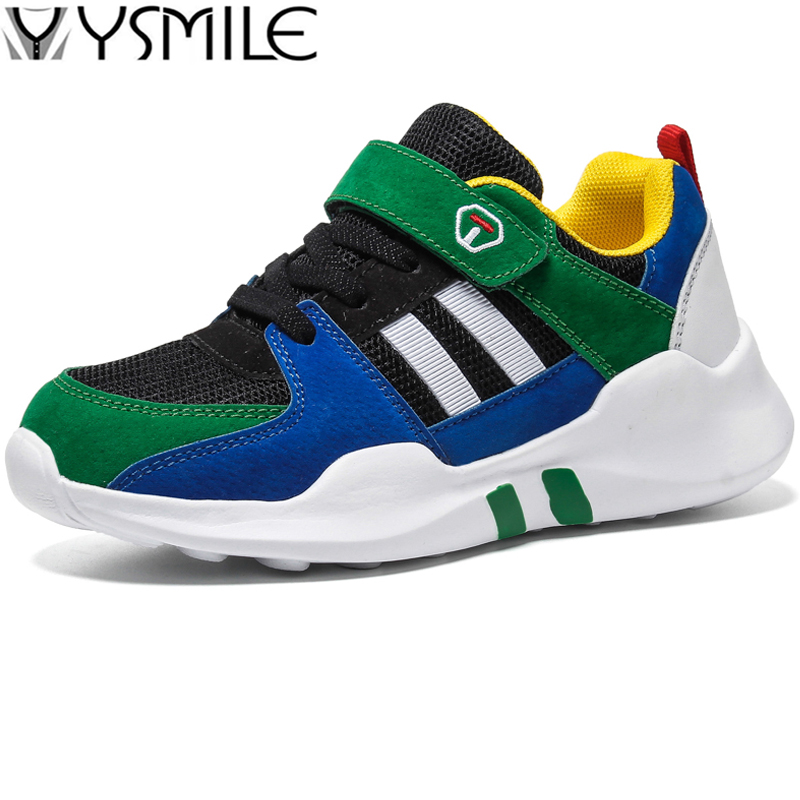Trend Breathable Soft Leather Kids Sneakers Boys Running Shoes Footwear Sbeakers Children Sports Shoes Outdoor Boy Walking Shoes