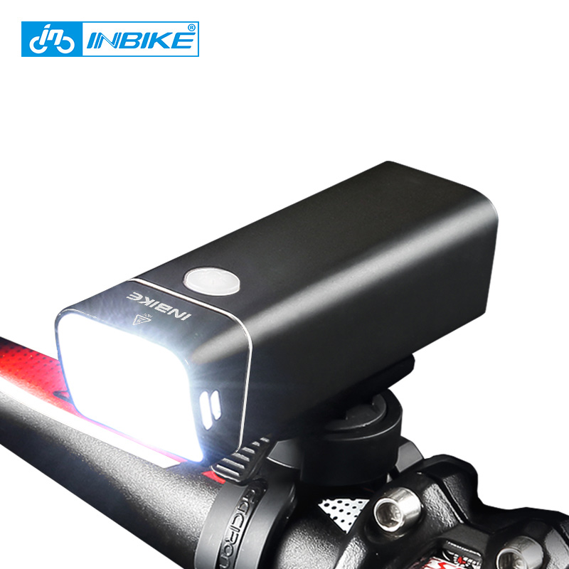 INBIKE 2019 New Usb Rechargeable Bike Light Front Handlebar Cycling Led Light Flashlight Torch Headlight Bicycle Accessories