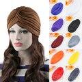 Fashion Unisex Style Stretchable Turban Hat Hair Head  Cap Head 9DPN