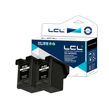 LCL 56 C6656AN (2-Pack Black) Ink Cartridge Compatible for HP Deskjet 450ci, 450cbi, 450Wbt, 5150, 5150w, 5550, 5551, 5650