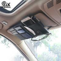 Ikescargot Auto voiture accessoires lunettes de soleil Clip voiture sac de rangement multifonctionnel pare-soleil facture carte de visite porte-boîte de rangement