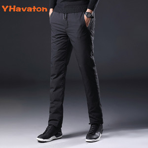 Image 2 - YHavaton Mens 90% White Duck Cold proof Pants 2020 Winter Straight outside wear Business Pants Warm Duck Down Padded Trousers