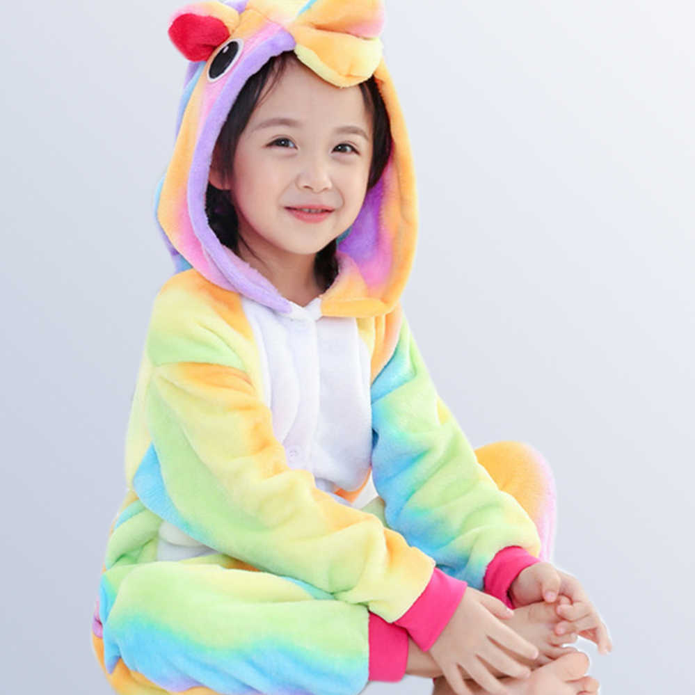 70ad973586 Infantis Menina Pyjamas New Baby Pajamas Autumn Winter Children Flannel  Jump Tiger Funny Kid Onesie Sleepwear for 4 6 8 10 Years
