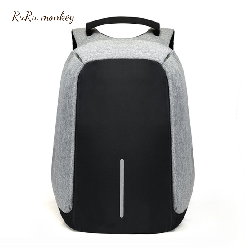 Multifunction USB Charging Men 15inch Laptop Backpacks For Teenager Fashion Male Mochila Leisure Anti Thief Travel