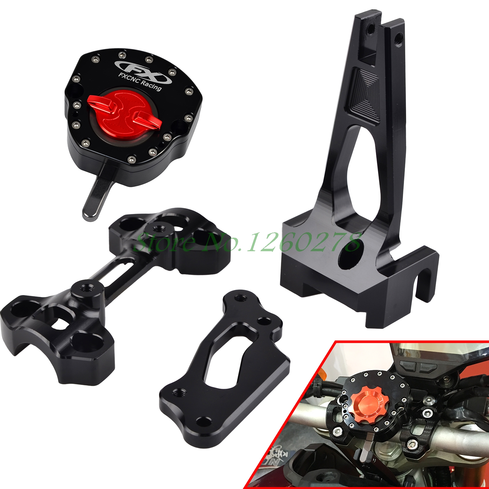 Motorcycle Steering Damper Stabilizer with Mounting Bracket Kit For Yamaha MT09 MT-09 FZ09 FZ-09 2014 2015 2016 new black motorcycle steering damper stabilizer with mounting bracket kit for yamaha mt09 mt 09 fz 09 2014 2015 2016