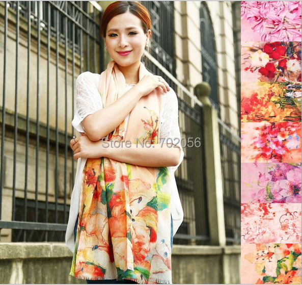 new arrival wool modal   wrap   poncho   scarf     wrap   shawl womens 9 colors Fashion 180*60cm #3784