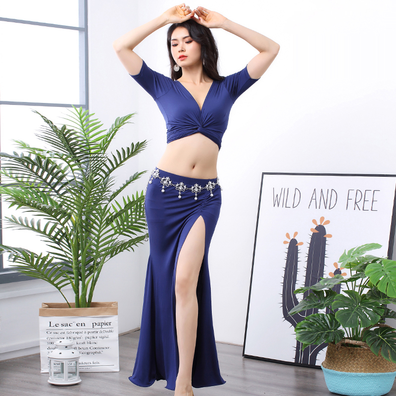 2019 New Belly Dance Sexy Suit Modal Exercise Clothes Practice Clothes Female Group Performance Clothing Class