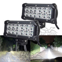 Pair Universal 7 Inch 36W 6000K LED Day Light Running Work Light Bar For Motorcycle Car