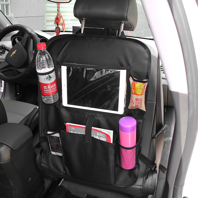 CARGOOL Car Backseat Organizer Auto Storage Bag Vehicle Back Seat Storage Holder with PVC Touch Screen Film