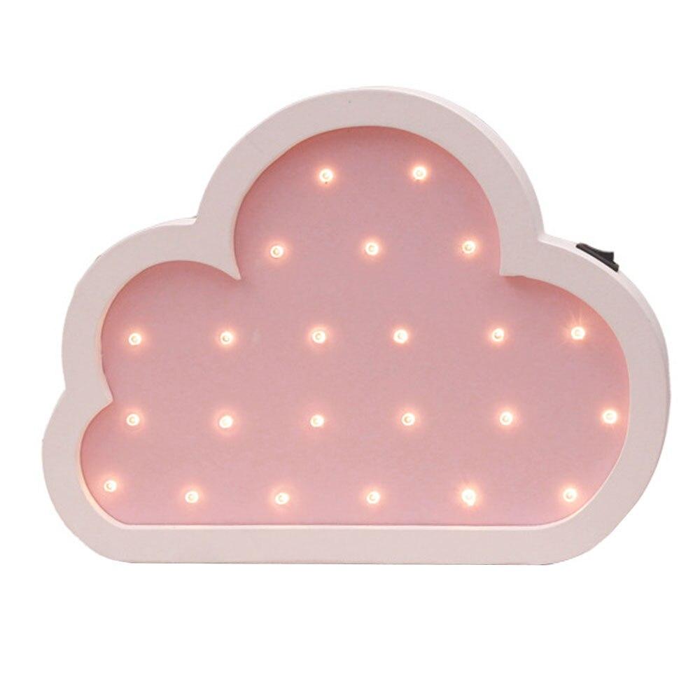 Светодиодный Мультфильм облака форма стены моделирование лампы свет фестиваль дома декоративные