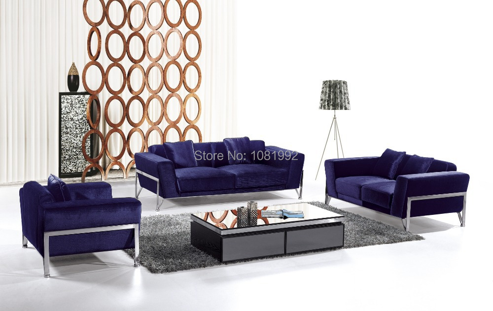 Online Fabric Sofa Sets Modern With Stainless Steel