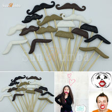 16Pcs Moustache Photo Booth Props Decoration Photobooth Wedding Birthday Decor Event Party Supplies Photocall