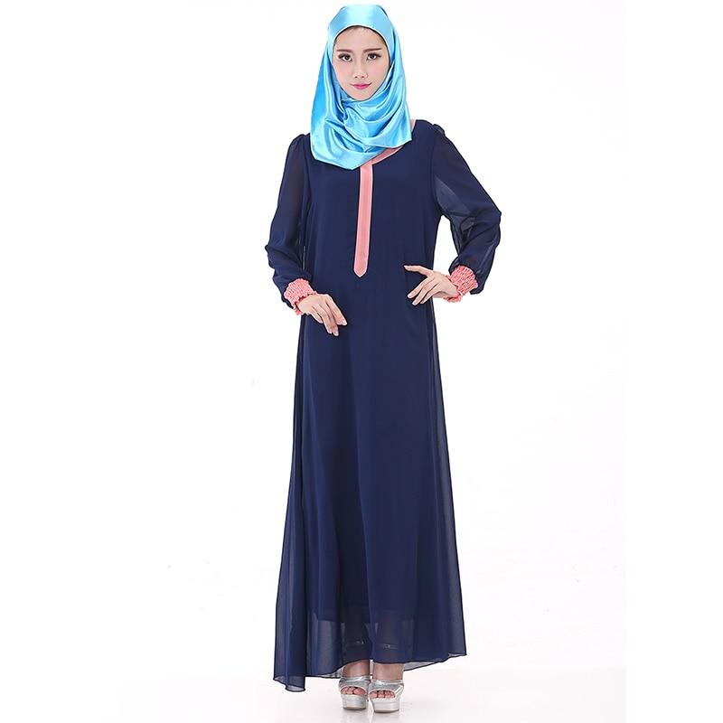 En mousseline de soie arabe femmes robe longue robes islamiques islamique  abaya 5a3a2077912