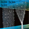 3M x 3M New Year Christmas Garlands LED String Christmas Lights Fairy Xmas Party Garden Wedding Decoration Curtain fairy Light