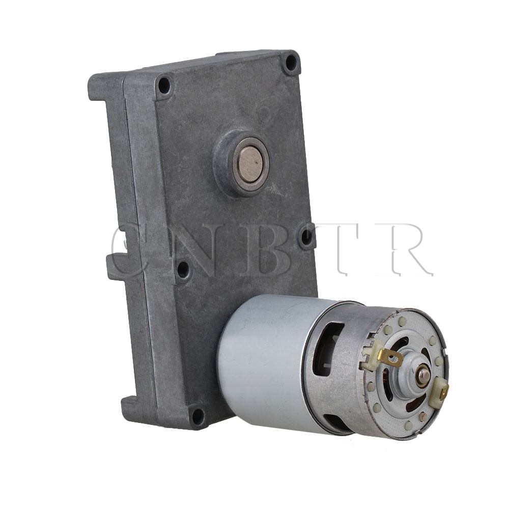 CNBTR Low Speed Electric Geared Motors DC24V 13RPM Metal Gearbox Motor cnbtr low speed electric geared motors dc12v 2 5rpm metal gearbox motor