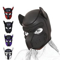 Pup Puppy Play Dog Hood Mask BDSM Bondage Restraint Hood Mask Fetish Hood Pet Role Play Sex Toys For Couples