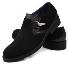 european style genuine full grain nubuck leather mens fashion qshoes business dress casual shoes men personalized shoe ym330-60