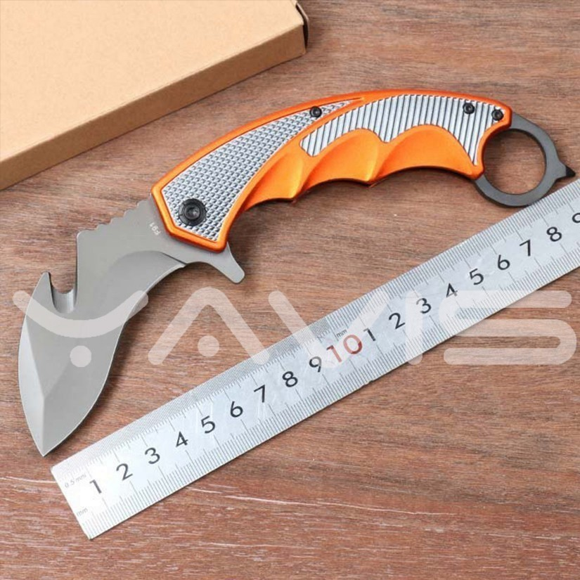 Camping Knife Csgo Claw Knives Game Tactic Knives 5CR15MOV 57HRC Steel Alumina Handle High Hardness Survival Pocket Knife