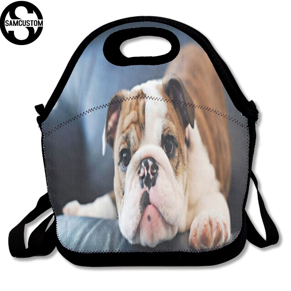 SAMCUSTOM French bulldog childhood 3D Lunch Bags Insulated Waterproof Food Girl Packages men and women Kids Babys Boys Handbags