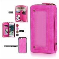 Luxury Zipper Leather Handbag Wallet Phone Case For IPhone 7 6 6s Plus Multifunction Flip Cover