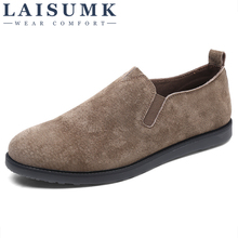 LAISUMK Loafers Men Shoes Split Leather Summer Slip-on Loafers Shoes Flats Hot Sale Driving Shoes Moccasins Zapatillas Hombre hot sale fashion flats mens casual shoes men zapatillas hombre air mesh and leather breathable elastic band summer loafers