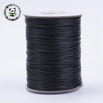 Koreański woskowany przewód poliestrowy czarny 0 5mm 1mm 1 5mm 2mm 3mm ocena biżuteria zestaw do robienia bransoletek naszyjniki czerwony biały Tan 38 kolorów tanie i dobre opinie pandahall Flat Round Cords ZX-YC1 0MM 238g Fabric Black 0 9mm 1Roll Waxed Polyester Cord
