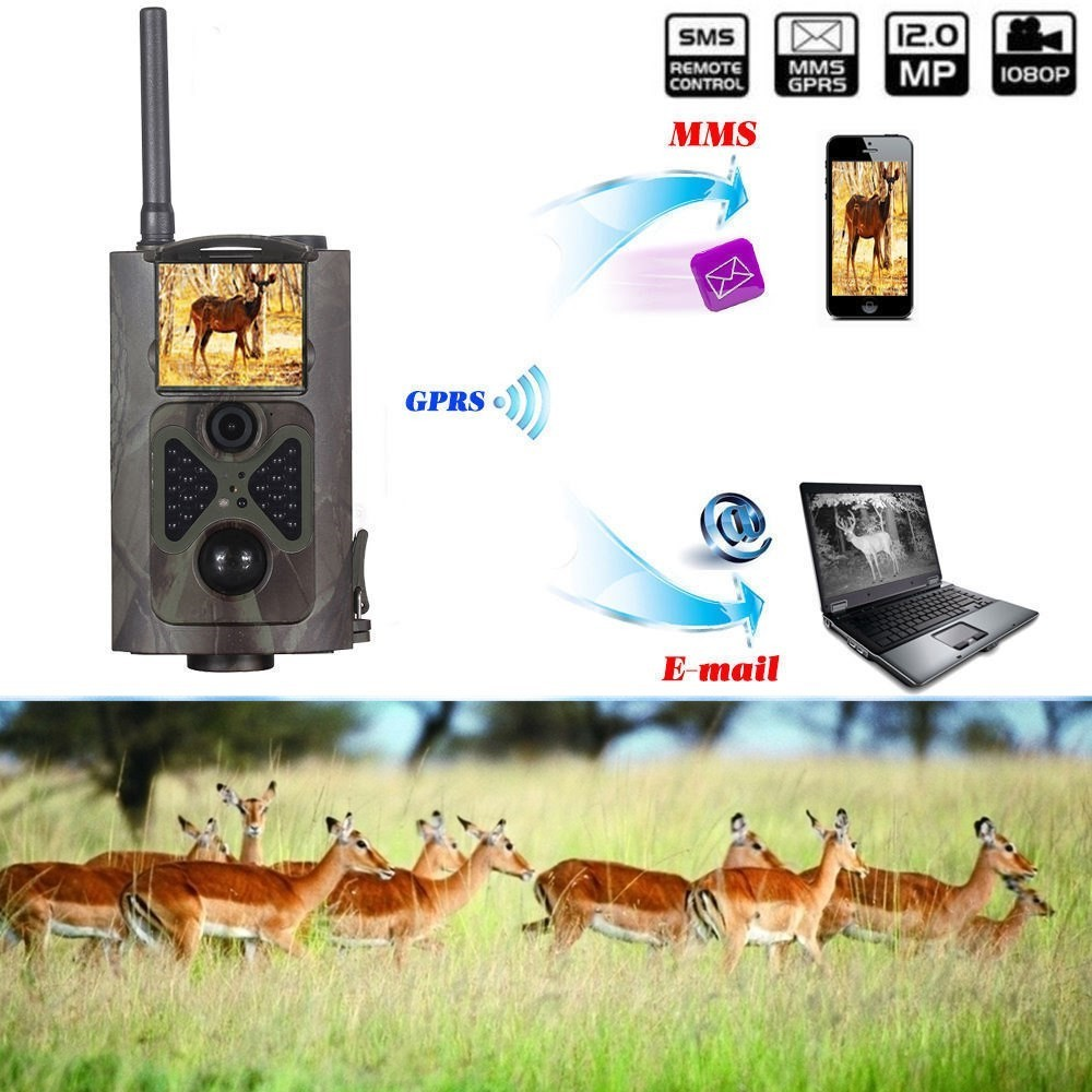12MP 1080P HD Game Trail Hunting Camera Infrared Scouting Camera Night Vision wholesale trail cameras