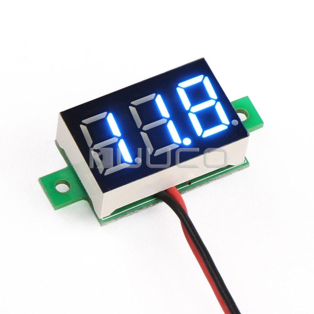 5 PCS/LOT DC 3~30V Digital Volt Meter DC 12V 24V Blue Led Display Voltmeter/Car Voltage Tester