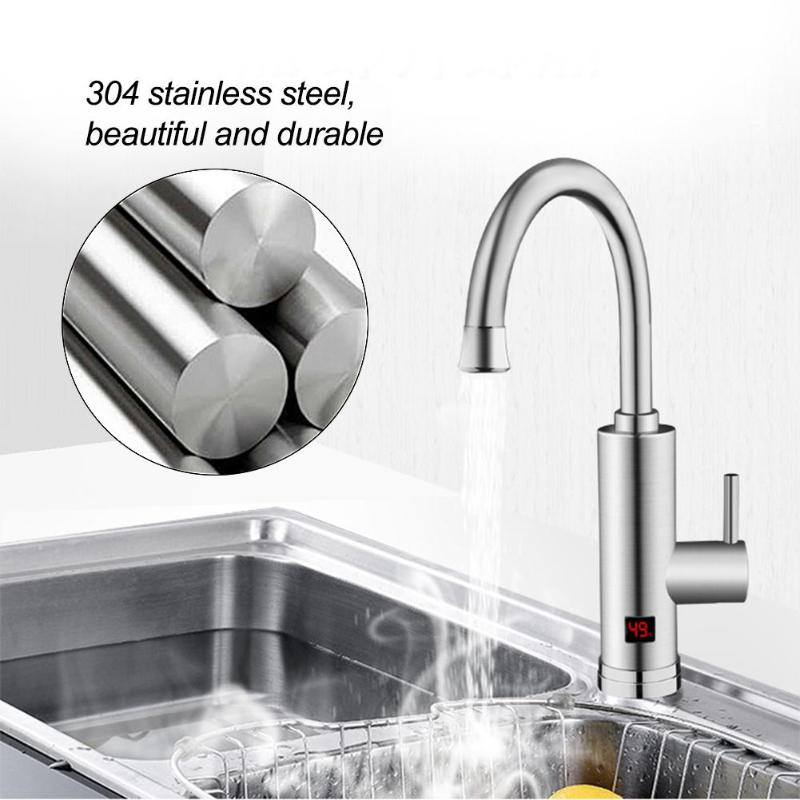 Instant Hot Kitchen Faucet Safe 220V Electric Tap Water Heater AU Plug with Electric Leakage Protector Rotating Faucet au plug ac 220v 10a electric 3 wires leakage protection cable for water heater