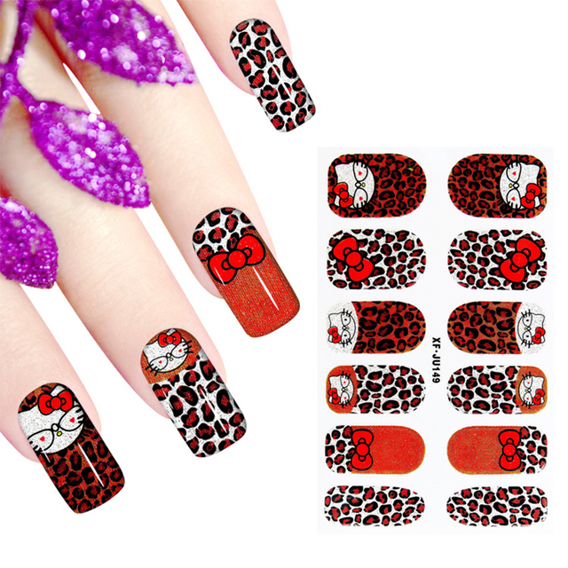 1pc Hello Kitty nail art stickers beauty manicure full cover ...