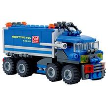 163Pcs DIY Truck Building Blocks Set Cool Assembly Dumper Truck Building Blocks Bricks Toy Child Educational Toys