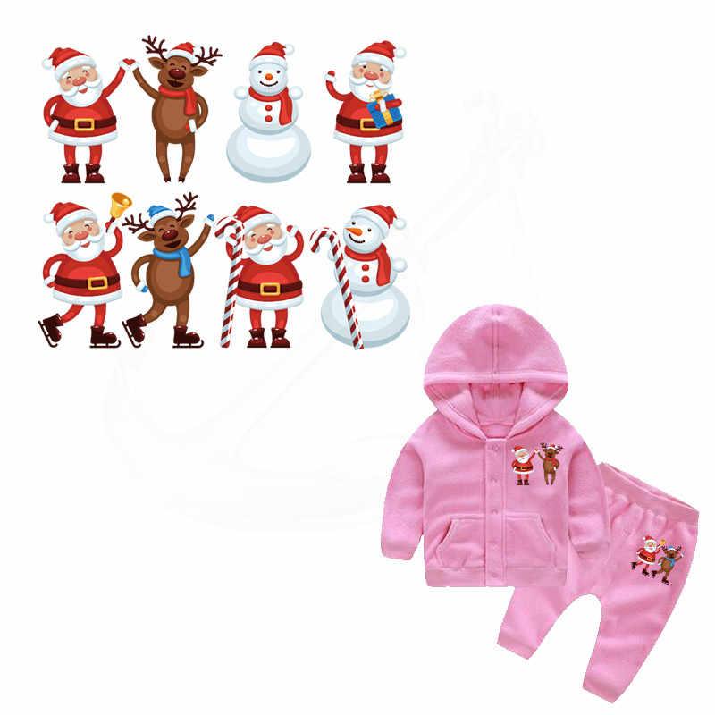 2017ใหม่คริสต์มาสมนุษย์หิมะผู้สูงอายุแพทช์21*17.8เซนติเมตรแพทช์สำหรับเสื้อผ้าเด็กDiyเสื้อยืดระดับความร้อนโอนสติ๊กเกอร์