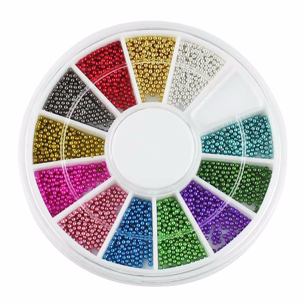 Color wheel online - 12 Colors Wheel Nail Art Tools Magic Candy Color Design Caviar Beads Manicure Microbeads Decorations