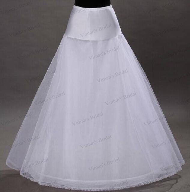 2015 La Venta Caliente 1 Hoop Una Línea Hueso Crinolina Enagua Enagua del vestido de Bola Vestidos de Boda Accesorios de La Enagua Para La Boda PE03