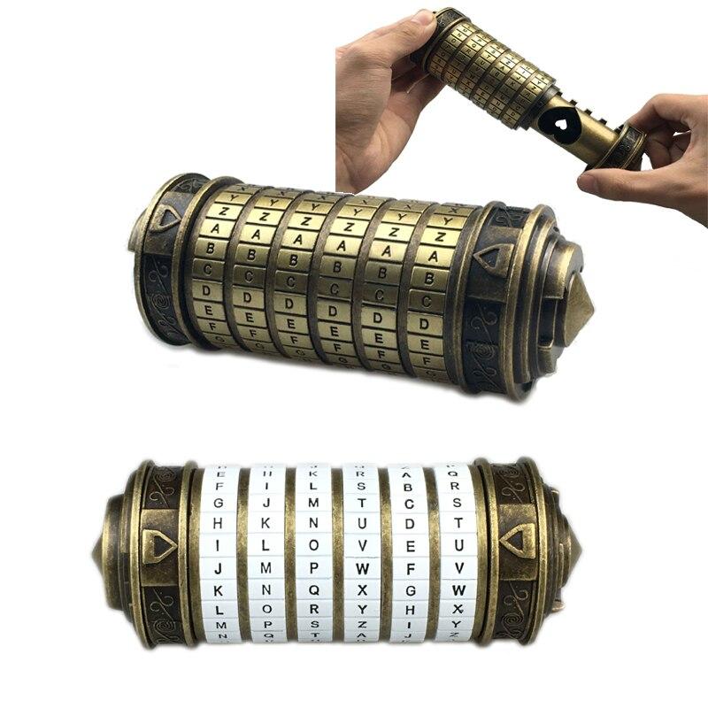 Leonardo Da Vinci Code Toys Metal Cryptex Locks Wedding Gifts Valentine s Day Gift Letter Password