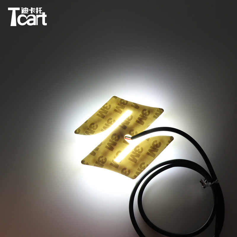Tcart 1set 8.05x7.98cm Car Styling 4D front Badge Logo Light for Suzuki SWIFT Alto Jimny Rear LED Emblem Logo Light