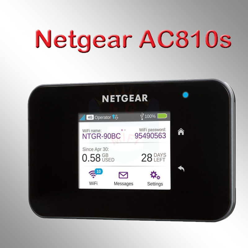 цена на newest netger AC810S 4g 600mbps 4g wifi router 4g wifi dongle lte Wireless Aircard 810S 4G LTE mifi pocket pk e5786 ac790s