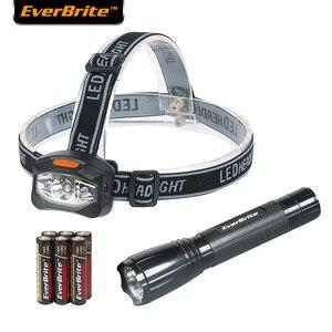 Everbrite LED Flashlight set Outdoor Camping Light Head Light 30 Lumens Flashlight (2 Pack) LED torch