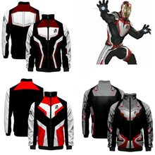 Avengers Endgame Quantum Realm Sweatshirt Jacket Cosplay Costumes Advanced Tech Hoodie 3D printing Iron Man Stand Collar Jacket(China)